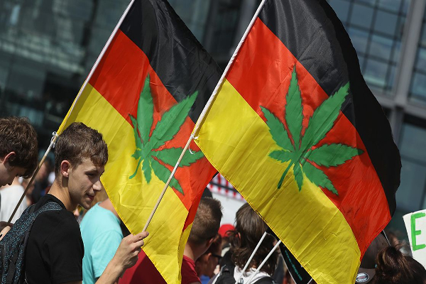 germany cannabis flags