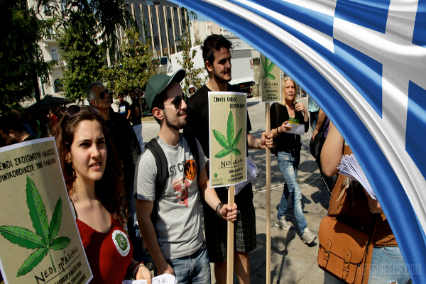 greece cannabis demo